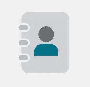 icon - providing contact details