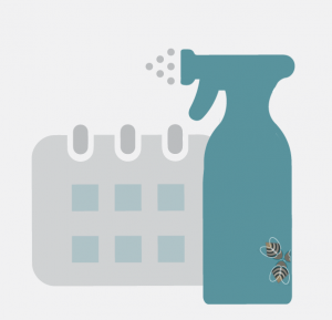 icon - risk assessment and scheduling cleaning