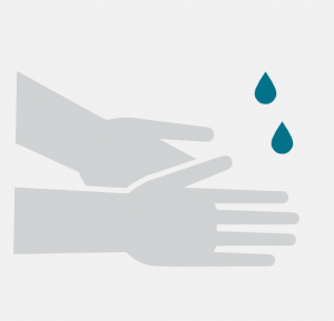 icon - hand sanitiser washing hands